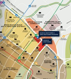 Location of Midtown Modern By GuocoLand