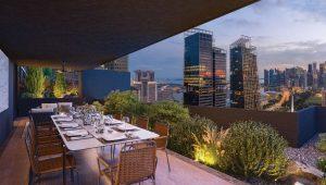 Midtown Modern Condominium Balcony